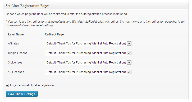 Wishlist Auto Registration After Registration Page Redirection