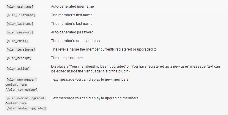 Wishlist Auto Registration Shortcodes