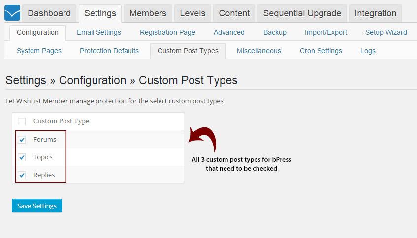 Enabling Custom Post Types for bbPress