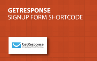 GetResponse Signup Form Shortcode