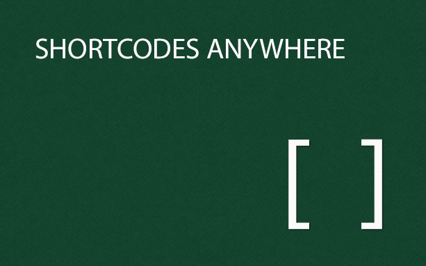 Shortcodes AnyWhere
