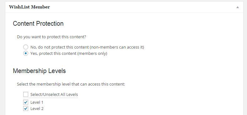 Wishlist Member Meta Box for Editing the Forum