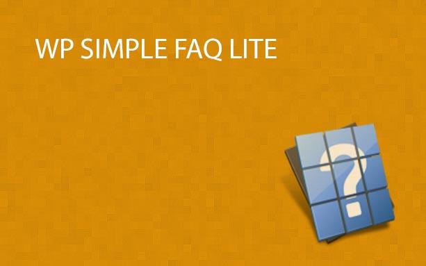 WP Simple FAQ - Lite