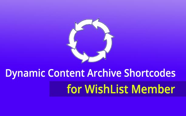 Dynamic Content Archive Shortcodes for WishList Member