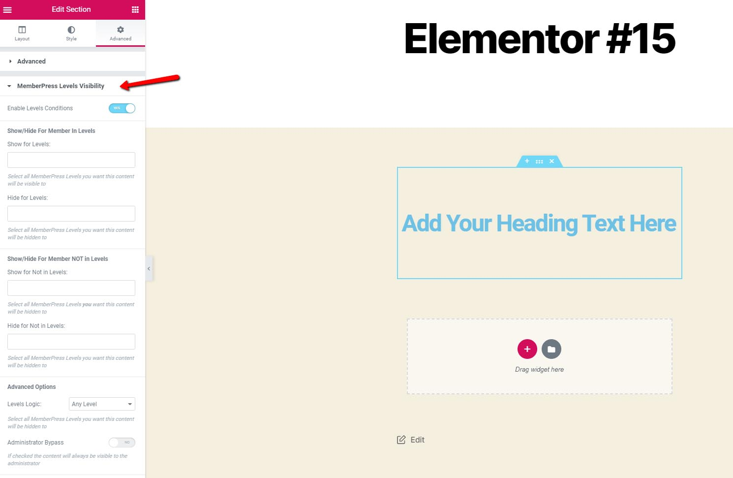 Dynamic Visibility for MemberPress & Elementor