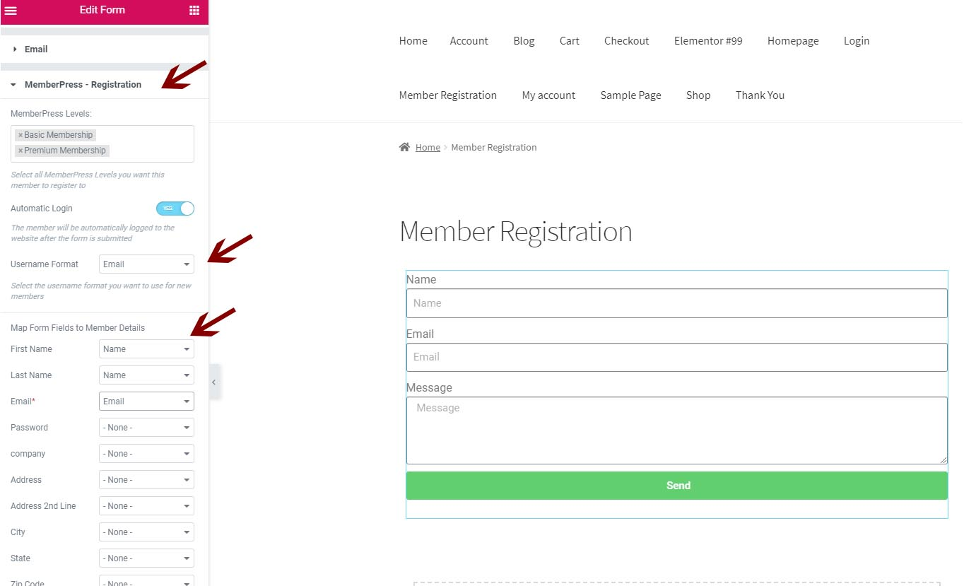 Define MemberPress membership levels (Step #4)