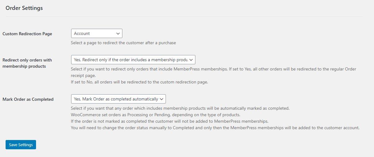 MemberPress WooCommerce Plus - Custom Thank You Page Redirection