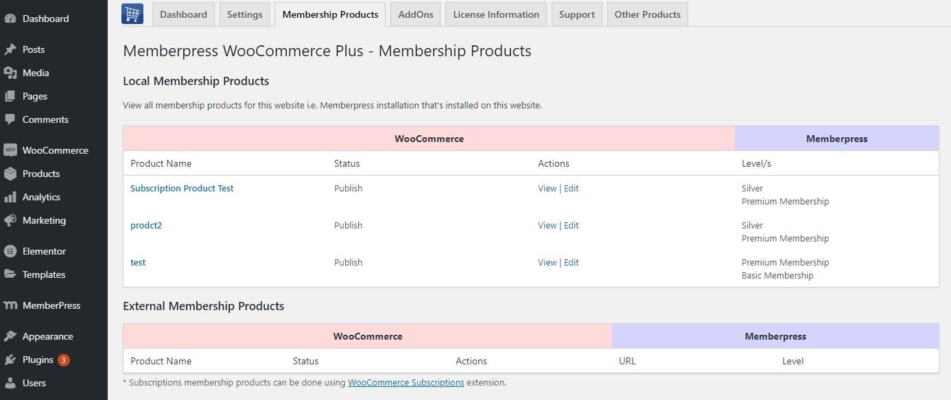 Memberpress WooCommerce Plus - Membership Products Creation
