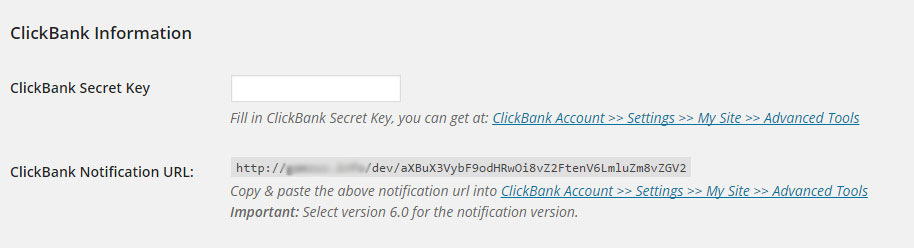 Clickbank Sales Notifications Clicbank Settings