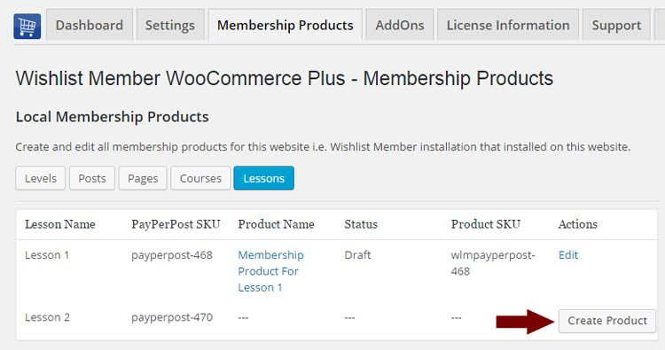 Step #3: Create your membership product using Wishlist Member WooCommerce Plus