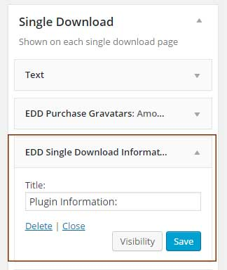 EDD Single Download Widget Sidebar