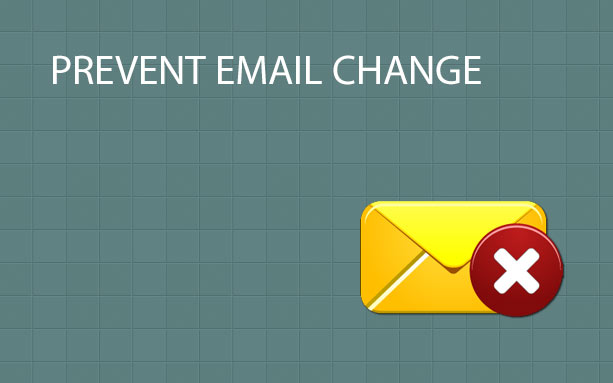 Prevent Email Change