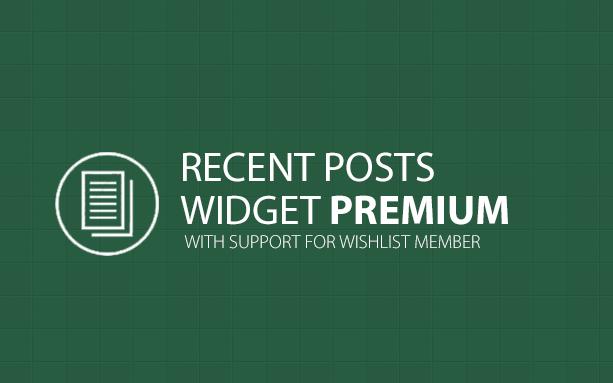 Recent Posts Widget Premium