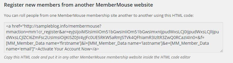 Rolling Member Registration Link