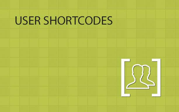 User Shortcodes WordPress Plugin | Happy Plugins Store