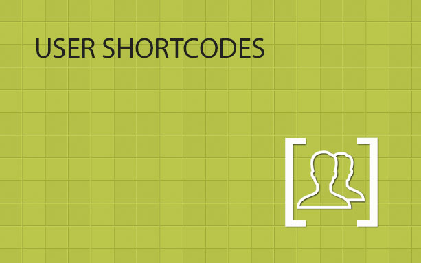 User Shortcodes