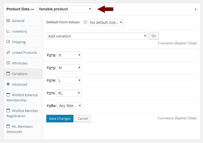 Step #1: Setup WooCommerce Variable Product