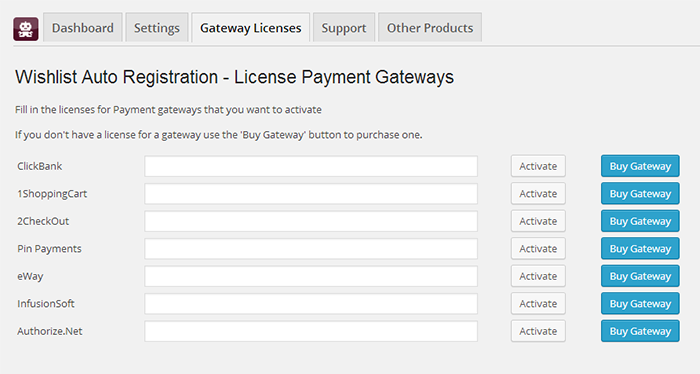 Wishlist Auto Registration Sopping Carts AddOns