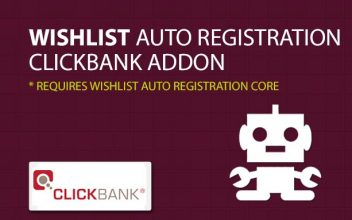 Wishlist Auto Registration Clickbank AddOn