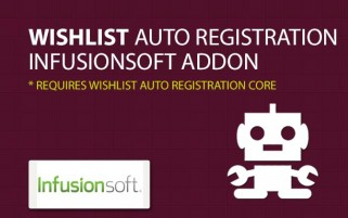 Wishlist Auto Registration InfusionSoft AddOn
