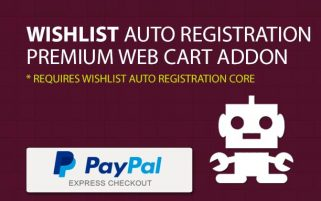Wishlist Auto Registration for PayPal Express (Payment Gateway AddOn)