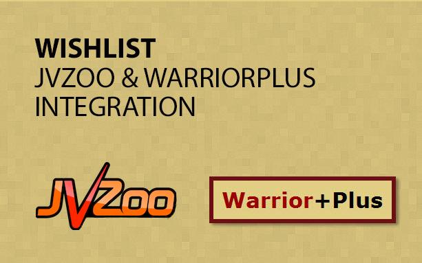 Wishlist JVZoo & WarriorPlus Integration