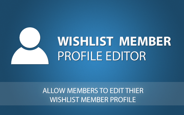 Wishlist Member Profile Editor