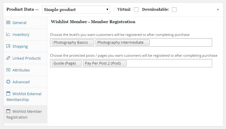 Member Registration Add-On Settings