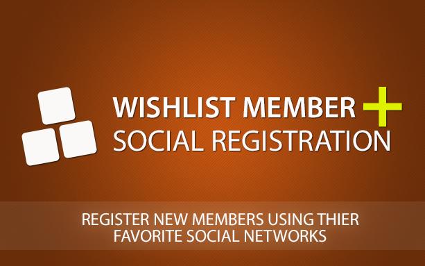 Wishlist Member Social Registration