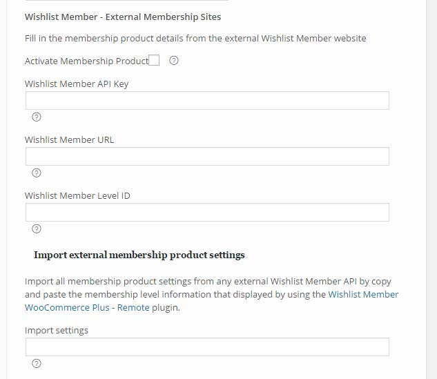 Setting Up the Variable Products for External Memberships