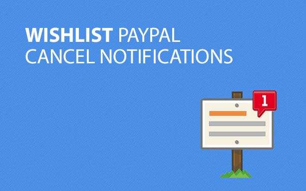 Wishlist PayPal Cancel Notifications