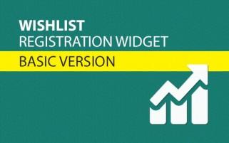 Wishlist Registration Widget Basic Version