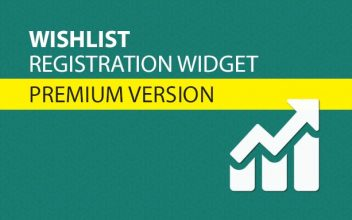 Wishlist Registration Widget Premium