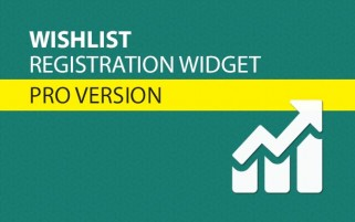 Wishlist Registration Widget Pro Version
