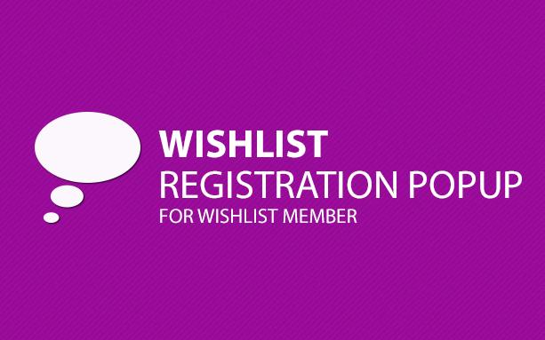 Wishlist Registration PopUp