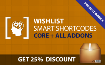 Wishlist Smart Shortcodes Bunlde